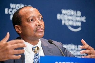 Patrice Motsepe, fondateur et président exécutif, African Rainbow Minerals, Afrique du Sud au Forum économique mondial sur l'Afrique 2015 à Cape Town.
