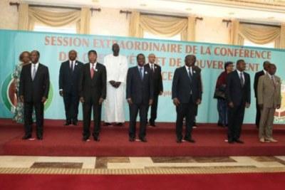 Les chefs d'états de la CEDEAO