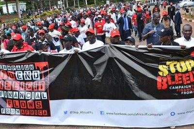 Campaign against illicit financial flows (file photo).