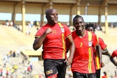 Uganda's Cranes celebrating