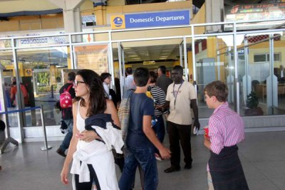 Tourists arrive in Kenya (file photo).