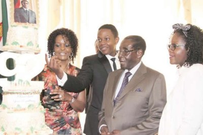 The Mugabe family.