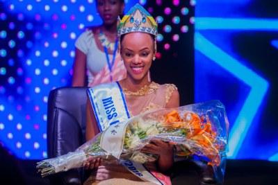 Jolly Mutesi was crowned Miss Rwanda 2016.