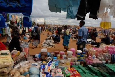 A market at Dzaleka Refugee Camp in Dowa district, Malawi.