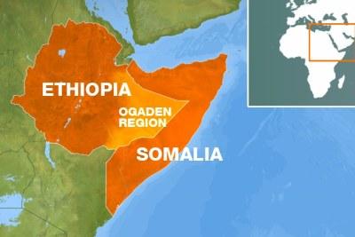 Ogaden / Carte Ethiopie-Somalie