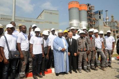 Inauguration de la cimenterie CIMAF Gabon par S.E. Ali Bongo Ondimba
