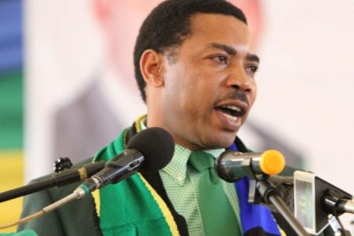 Newly appointed Home Affairs minister Mwigulu Nchemba.