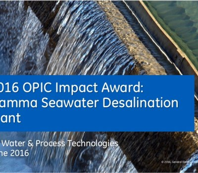 2016 OPIC Impact Award: Hamma Seawater Desalination Plant | Algeria