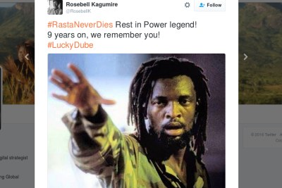 Africa remembers #LuckyDube.