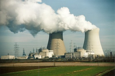 Nuclear reactors in operation releasing hot steam as a side product (file photo).