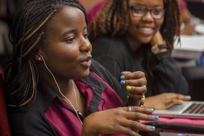 Students at the African Leadership Academy (ALA), South Africa. In addition to empowering young leaders to shape Africa's future, GE's partnership with ALA also supports GE's drive to develop local African talent.