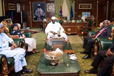 President Yahya Jammeh and ECOWAS leaders.