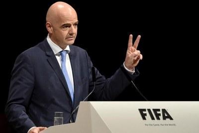 Gianni  Infantino le président de la FIFA
