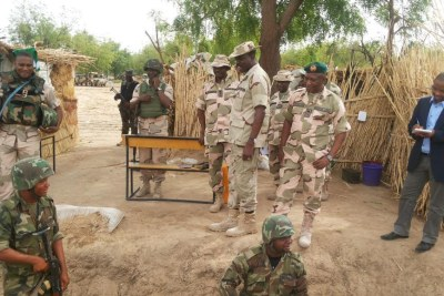 Nigerian military on patrol (file photo).