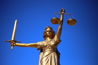 Lady Justice, an iconic image of the legal system (file photo).
