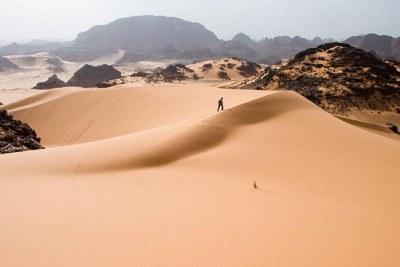 Les dunes de Tadrart Acacus, une zone désertique de l'ouest libyen.
