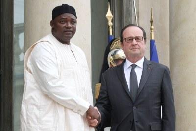 Visite du président de la République de Gambie M. Adama BARROW à Paris.