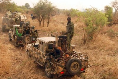 Nigerian army patrol in Sambisa Forest (file photo).