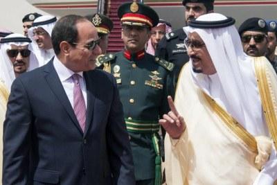 Le président Abdel Fattah al-Sissi a été reçu par le roi Salman, à Riyad, le 23 avril 2017.