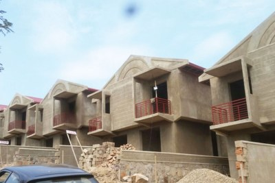 Construction of houses in Kigali (file photo).