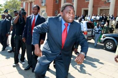 Opposition leader Hakainde Hichilema (file photo).