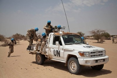UN peacekeepers in Mali (file photo).