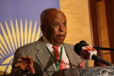 Former Botswana President Festus Mogae chair of the regional peace watch team in South Sudan.