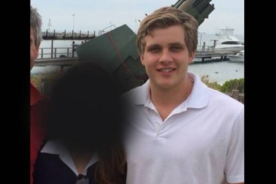 A photo posted to Facebook of Henri Van Breda shortly after the murder of his parents at their De Zalze estate.