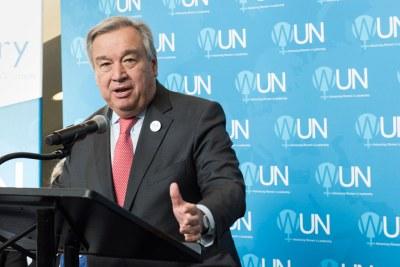 Le Secrétaire général des Nations Unies, António Guterres.