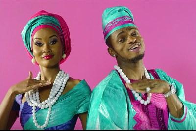 Diamond Platinumz and Hamisa in Salome.