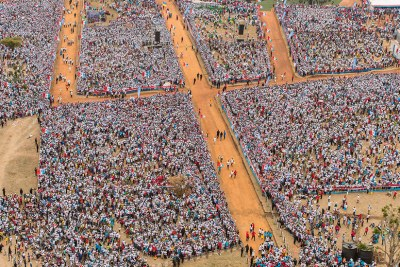 President Paul Kagame's final rally that attracted over 500,000 people, making it the largest gathering of Rwandans in modern history.
