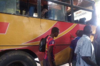 Some of the the passengers who were travelling in the bus before it was attacked at Nyongoro area in Witu.