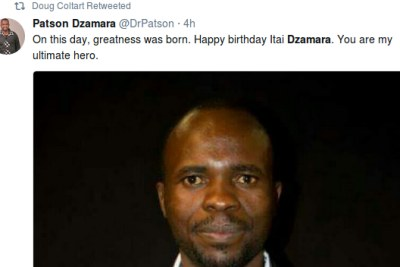 Patson Dzamara remembes brother Itai Dzamara on his birthday.