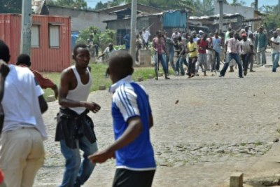 Riots in Burundi (file photo).