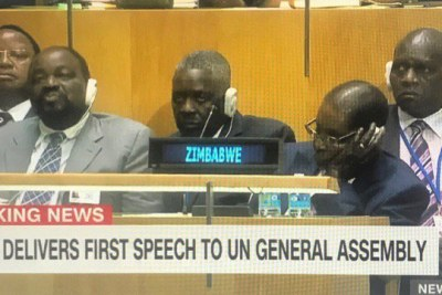 Was Zimbabwean President Robert Mugabe (and some of his delegation) sleeping or