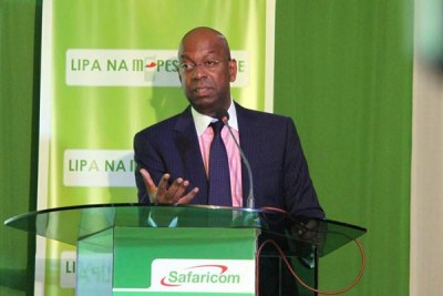 Bob Collymore, the CEO of Safaricom.