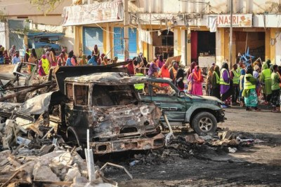 scene of Mogadishu bombing