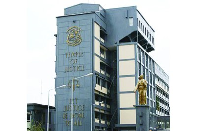Temple of Justice, home of the Supreme Court of Liberia.