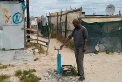 New Lands, Khayelitsha community leader Myolisi Magibisela says taps have run dry (file photo).