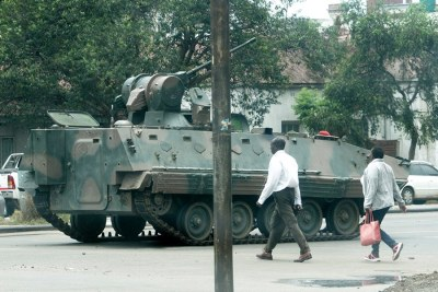 The army, maintaining a presence in Harare, are calling for peace and calm.
