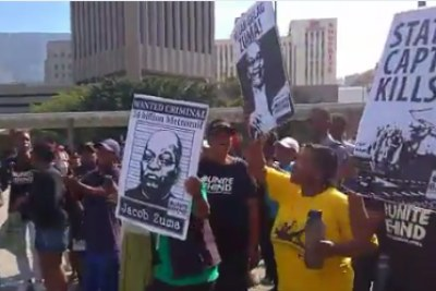 Activists protest against state capture in Cape Town (file photo).