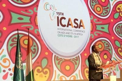 Le président Ouattara lors de l'ouverture officielle d'ICASA 2017, le 4 décembre à Abidjan