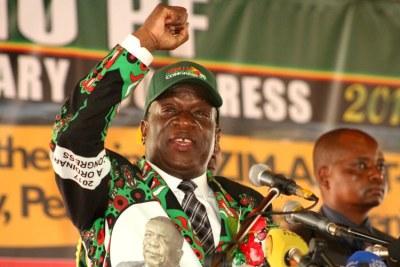 President Emmerson Mnangagwa at Zanu-PF Extraordinary Congress.