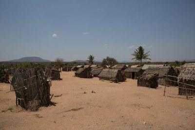 Vue d'un village au Sud de Madagascar.