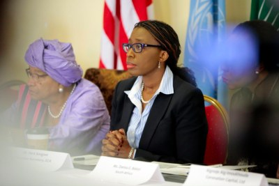 Executive Secretary of the United Nations Economic Commission for Africa Vera Songwe in Monrovia (file photo).