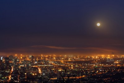 Cape Town at night (file photo).