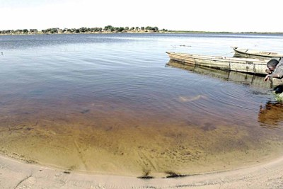 Receding Lake Chad.