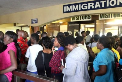 Travellers at Beitbridge Border Post  (file photo).