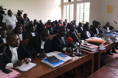 The age limit petition hearing at the Mbale High Court in Eastern Uganda.