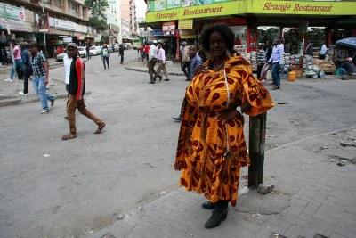 Martina Big in the streets of Nairobi.
